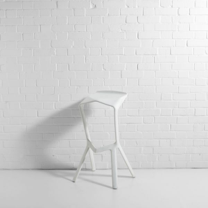 Shuttle Bar Stool White