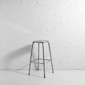 Silver Distressed Lab Stool