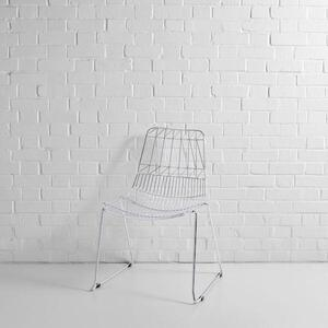 Silver Simplicity Wire Chair