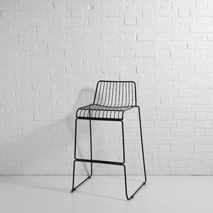 Steel Wire Bar Stool Black