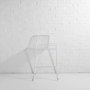 Steel Wire Bar Stool White