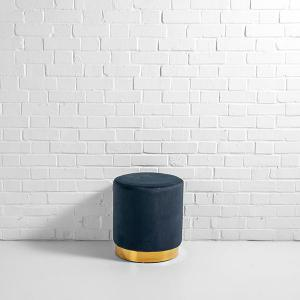 Velvet Paris Pouffe Black