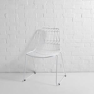 White Simplicity Wire Chair