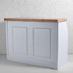 White Wooden Bar Hire