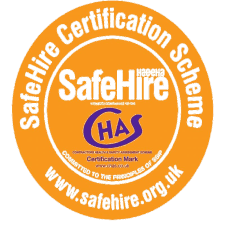 Proud Member of Safe Hire Certificate Scheme